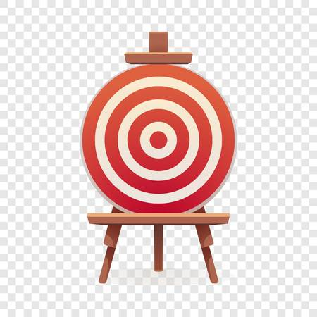 Arch target icon. Cartoon of arch target vector icon for web design