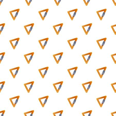 Triangular carabine pattern seamless vector repeat for any web design Illustration