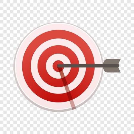 Bulls eye target icon. Cartoon of bulls eye target vector icon for web design