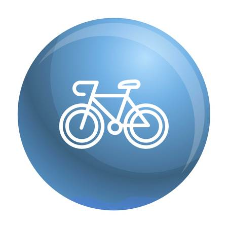 Bicycle icon. Outline bicycle vector icon for web design isolated on white background Иллюстрация