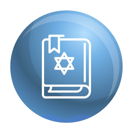 Torah book icon. Outline torah book vector icon for web design isolated on white background