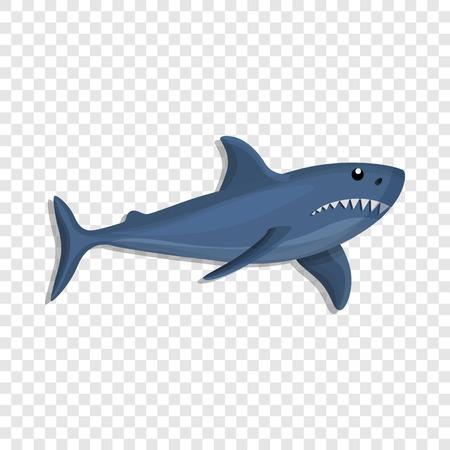 Icono de tiburón azul. Caricatura de tiburón azul icono vectoriales para diseño web