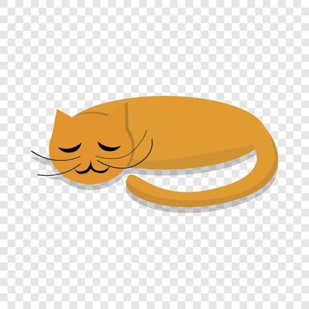 Sleeping cat icon. Cartoon of sleeping cat vector icon for web design