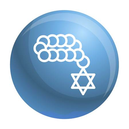 Jewish beads icon. Outline jewish beads vector icon for web design isolated on white background