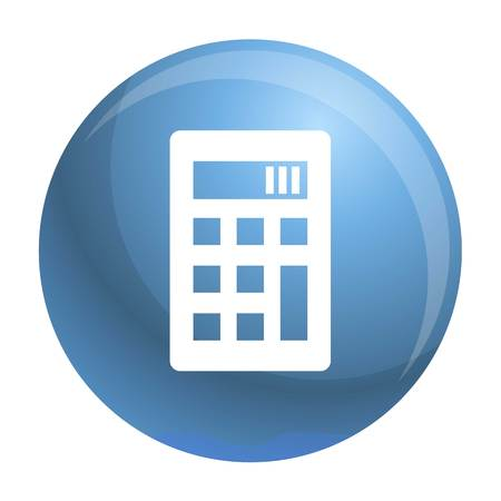 Science calculator icon. Simple illustration of science calculator vector icon for web design isolated on white background Иллюстрация