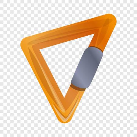 Triangular carabine icon. Cartoon of triangular carabine vector icon for web design