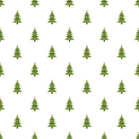 Xmas fir tree pattern seamless vector repeat for any web design