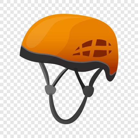 Climbing helmet icon. Cartoon of climbing helmet vector icon for web design