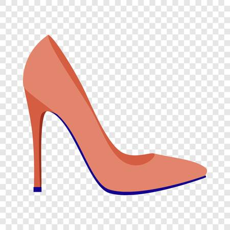 Red woman shoe icon. Flat illustration of red woman shoe vector icon for web design Illustration