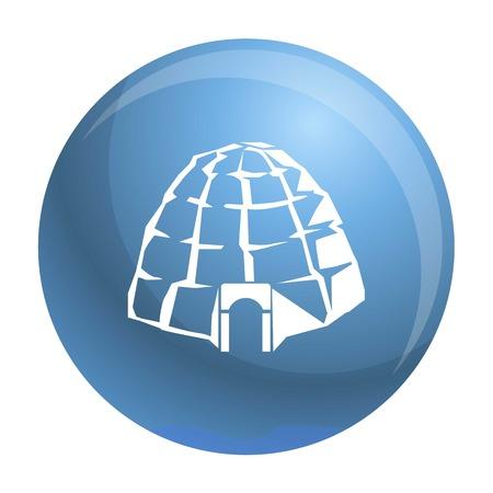 Eskimo igloo icon. Simple illustration of eskimo igloo icon for web design isolated on white background