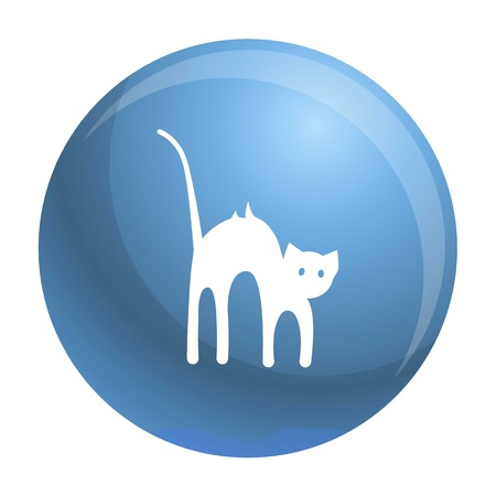 Scary cat icon. Simple illustration of scary cat icon for web design isolated on white background Stock Photo