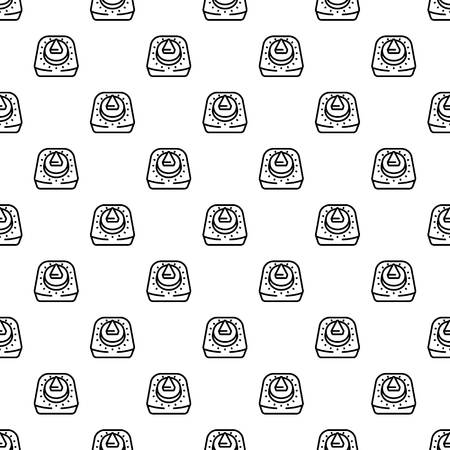 Kitchen retro timer pattern seamless repeat background for any web design