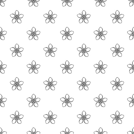 Cosmetic flower pattern seamless repeat background for any web design Banco de Imagens