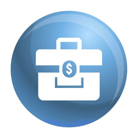 Money case icon. Simple illustration of money case vector icon for web design isolated on white background