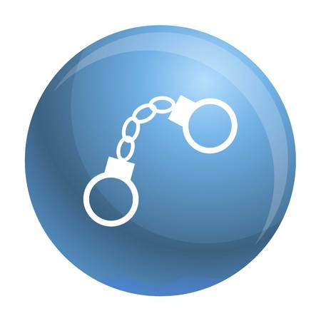 Handcuffs icon. Simple illustration of handcuffs vector icon for web design isolated on white background