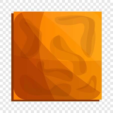 Square crack biscuit icon. Cartoon of square crack biscuit vector icon for web design