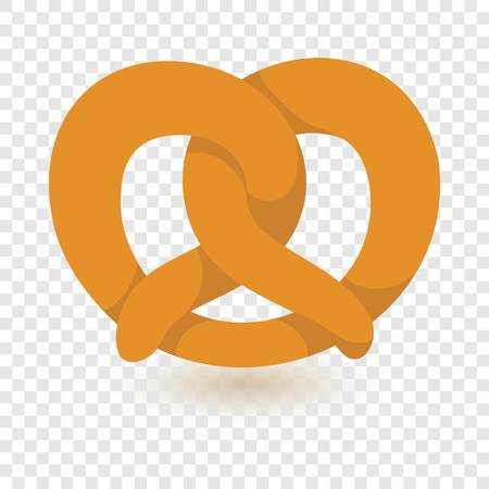 Soft pretzel icon. Flat illustration of soft pretzel vector icon for web design