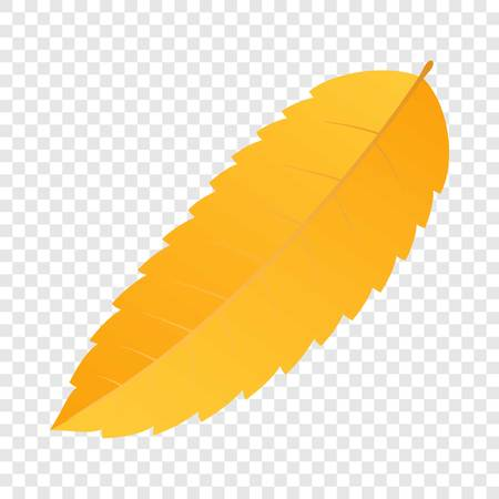 Forest yellow leaf icon. Flat illustration of forest yellow leaf vector icon for web design Illustration