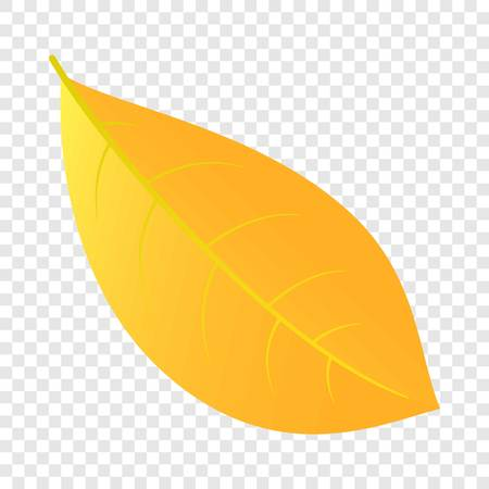 Yellow leaf icon. Flat illustration of yellow leaf vector icon for web design