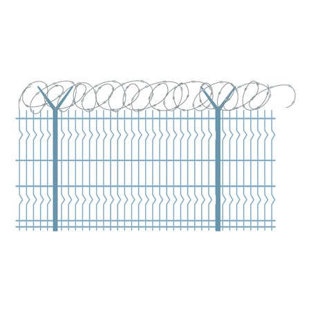 Border metal fence icon. Flat illustration of border metal fence vector icon for web design