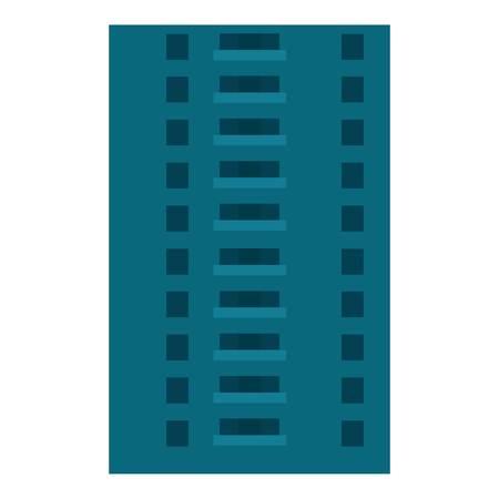 Abandoned city building icon. Flat illustration of abandoned city building vector icon for web design