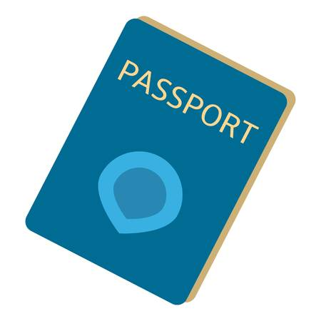 Immigrant passport icon. Flat illustration of immigrant passport vector icon for web design