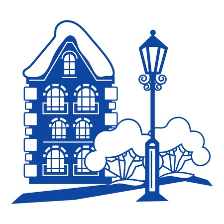 Old house icon. Simple illustration of old house vector icon for web design isolated on white background  イラスト・ベクター素材