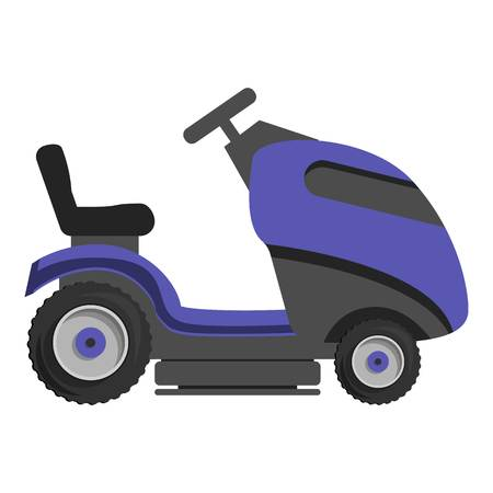 Truck grass cut icon. Cartoon of truck grass cut vector icon for web design isolated on white background