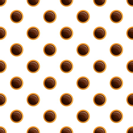 Chocolate bakery biscuit pattern seamless vector repeat for any web design
