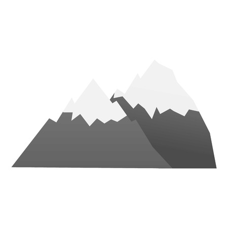 Hiking mountain icon. Cartoon of hiking mountain vector icon for web design isolated on white background