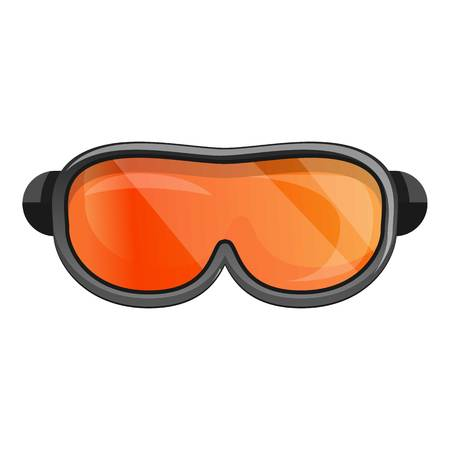 Symbol für Snowboardbrille. Cartoon von Snowboardbrillen-Vektorsymbol für Webdesign isoliert auf weißem Hintergrund