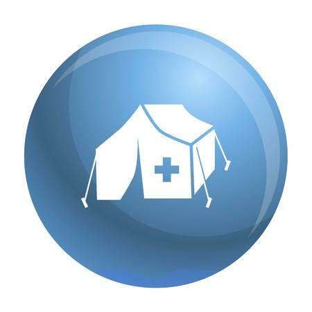Migrant help tent icon. Simple illustration of migrant help tent vector icon for web design isolated on white background Illusztráció