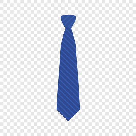 Blue tie icon. Flat illustration of blue tie vector icon for web design