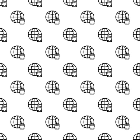 Global hand click pattern seamless vector repeat for any web design Illustration