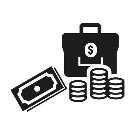 Money icon. Simple illustration of money icon for web design isolated on white background 版權商用圖片