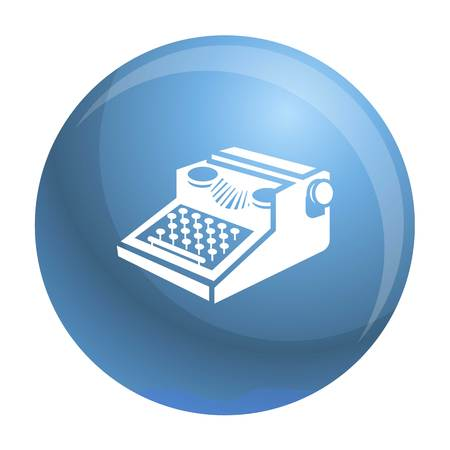 Newspaper typewriter icon. Simple illustration of newspaper typewriter vector icon for web design isolated on white background