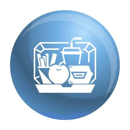 Mescolare l'icona del cestino. Semplice illustrazione del mix lunchbox icona vettoriali per il web design isolato su sfondo bianco