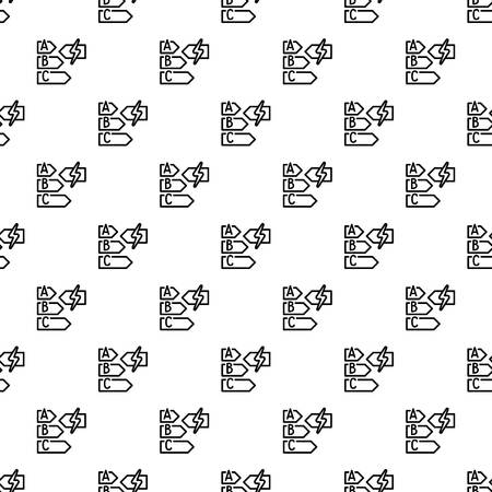 Energy class pattern seamless vector repeat for any web design Ilustração