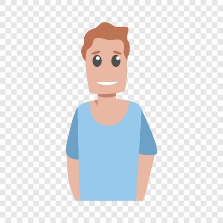 Smiling happy man icon. Cartoon of smiling happy man vector icon for web design