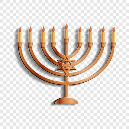 Jewish candle stand icon. Cartoon of jewish candle stand vector icon for web design