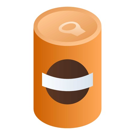 Bean soup can icon. Isometric of bean soup can vector icon for web design isolated on white background