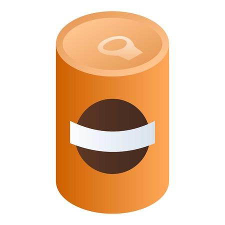 Bohnensuppe kann Symbol. Isometrische Bohnensuppe kann Vektorsymbol für Webdesign isoliert auf weißem Hintergrund