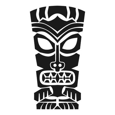 Tiki idol icon. Simple illustration of tiki idol vector icon for web design isolated on white background