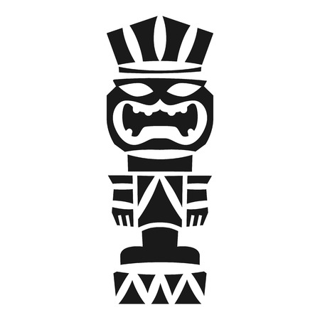 Tribal idol icon. Simple illustration of tribal idol vector icon for web design isolated on white background