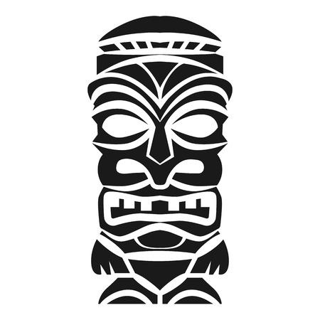 Icône d'idole de bois. Illustration simple de l'icône vecteur idole bois pour la conception web isolé sur fond blanc Vecteurs