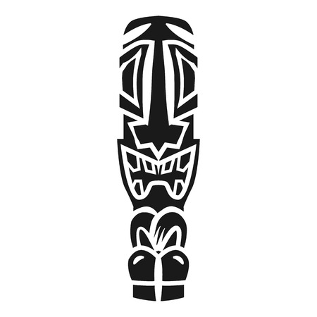 Retro tiki idol icon. Simple illustration of retro tiki idol vector icon for web design isolated on white background