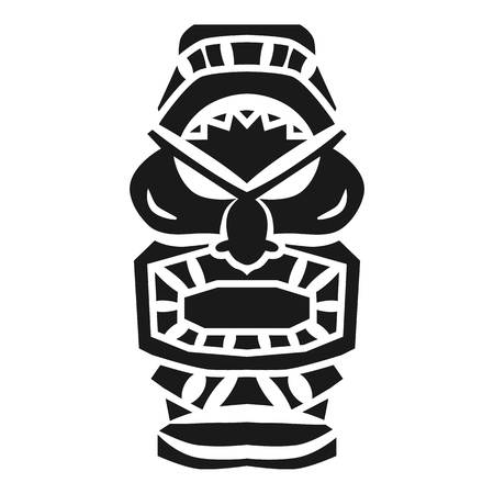 Totem idol icon. Simple illustration of totem idol vector icon for web design isolated on white background Illustration