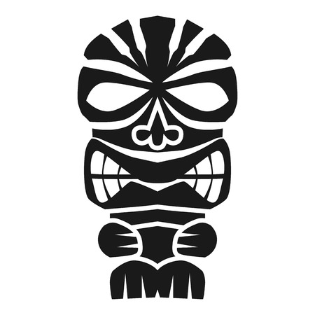 Polynesian idol icon. Simple illustration of polynesian idol vector icon for web design isolated on white background