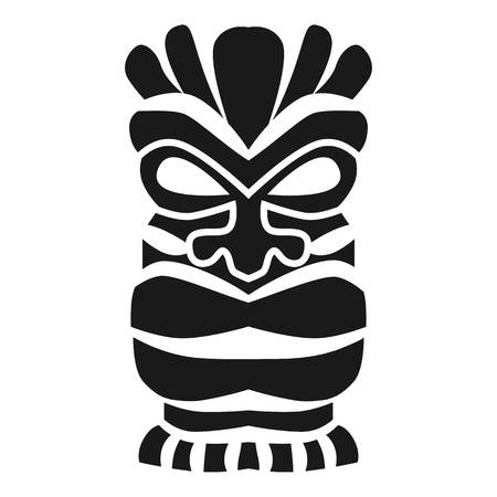 Polynesian wood idol icon. Simple illustration of polynesian wood idol vector icon for web design isolated on white background Illustration