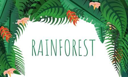 Rainforest concept banner. Cartoon illustration of rainforest vector concept banner for web design